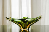 Vibrant Green Murano Glass Plate poster