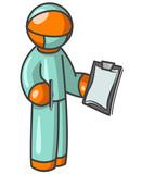 Orange Man Surgeon poster