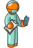 Orange Man Surgeon holding Cell Phone poster