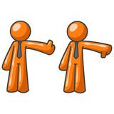 Orange Man Critics Thumbs Up Thumbs Down poster