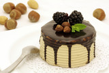 Hazelnut and chocolate cake poster