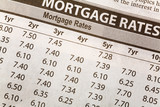 Newspaper Mortgage Rate poster