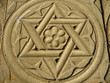 Star of David engraved in stone - Judaism