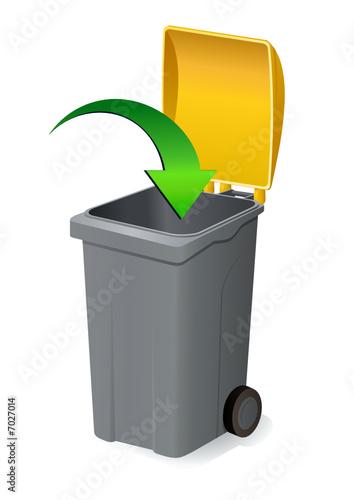 Déposer dans la poubelle jaune - 7027014