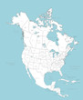 North America vector map with countries - 7027691