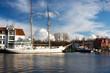 Segelschiff Greif im Hafen