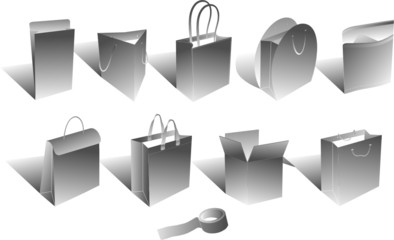shopping bags 3d version 2