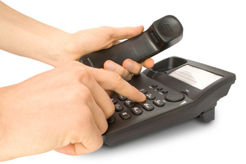 business work on telephone