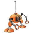 Orange Miniature Robot