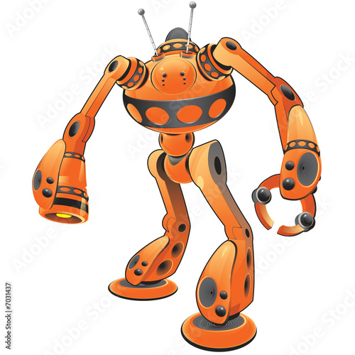 Orange Internet Guardian Robot