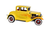 yellow whitewall hotrod