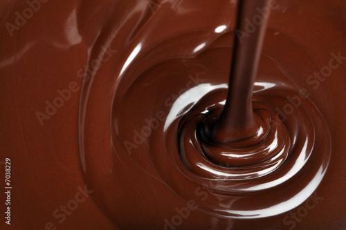 Foto op Plexiglas Snoepjes chocolate flow