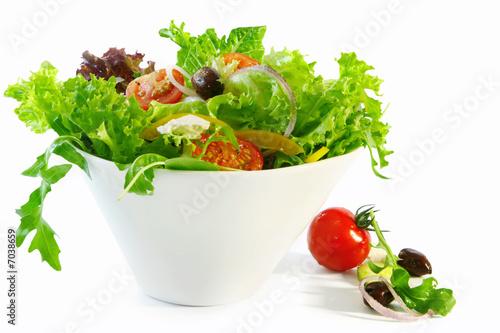 Fotobehang Salade Tossed Salad