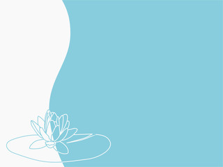 Vector - floral background with water lilly