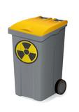 Container de déchets radioactifs poster