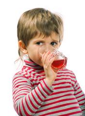 Little drinking boy