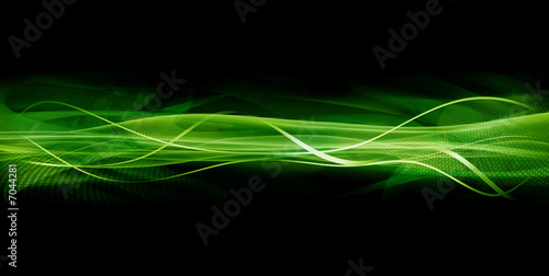 Abstract green wave texture - 7044281