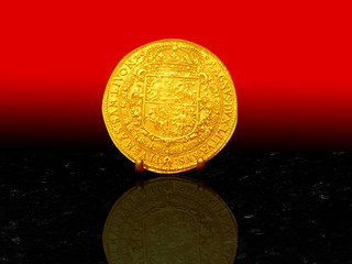 15 Ducats golden coin from 1617.