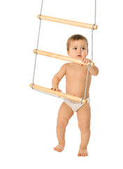 Boy with a rope-ladder 3