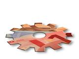 Euro economy cogwheel poster