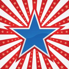 Star on a Burst Background