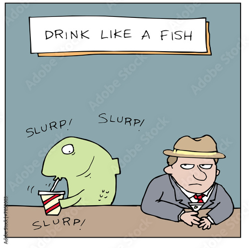 drink like a fish by hellotim royalty free vectors