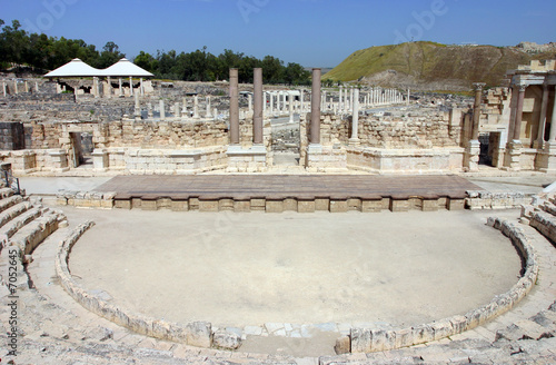 Ancient theatre in the Scythopolis city in Beit-Shean, Israel