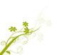 vecteur série - bouquet de fleurs et courbe en été