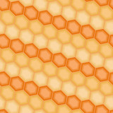 Orange 3D tiles. Seamless vector pattern