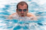 natation jeux olymiques piscine athlète course endurance poster