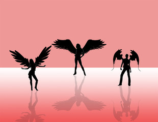 3 angels dancing