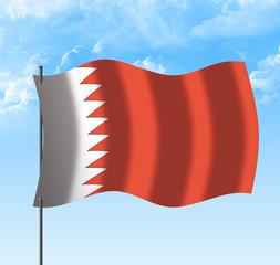Drapeau du Bahreïn , ciel et vent