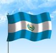 Drapeau du El Salvador , ciel et vent