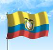 Drapeau de l' Equateur, ciel et vent