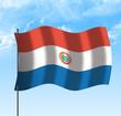 Drapeau du Paraguay, ciel et vent