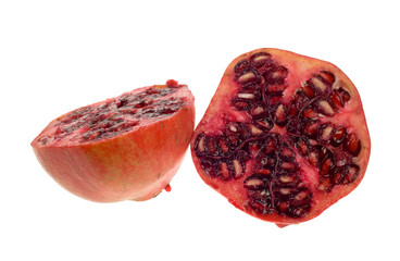 fresh isolated pomegranate