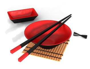 Bowl and chopstick (Japanese)