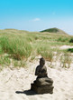 canvas print picture Buddha am Strand