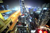 United Arab Emirates: Dubai skyline at night-