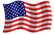 Drapeau des Etats-unis d'Amérique, usa, ciel et vent