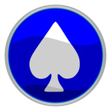 spades suit icon poster