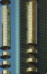 United Arab Emirates: Dubai  detail of a modern buiding
