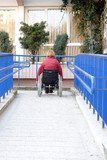 Using wheelchair ramp poster