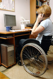 Active wheelchair woman poster