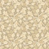 Roses in bloom floral seamless repeat pattern, beige poster