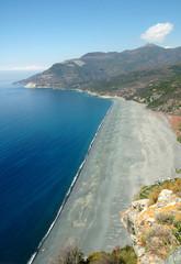 vulcanic coast in Corse