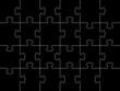 schwarzes Puzzle