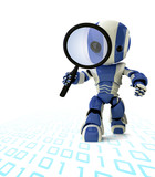 Robot Inspector Detective with Magnifying Glass poster