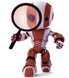 Orange Robot Detective SEO specialist poster