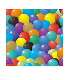 seamless repeating illustrated balloon background poster